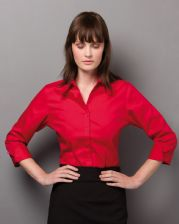 KK710 Kustom Kit Ladies' 3/4 Sleeve Corporate Oxford Shirt